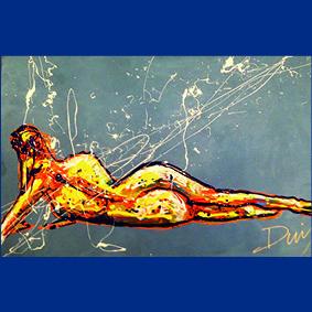 Splash art liggende vrouw