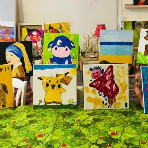 Art Party for boys and girls