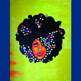 Afro vrouw