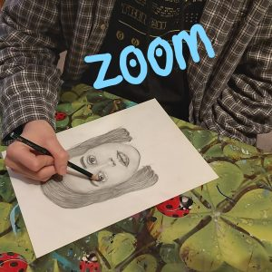 ZOOM portret tekenen